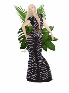 Zebra Print Gown Zuhair Murad Haute Couture Spring 2014