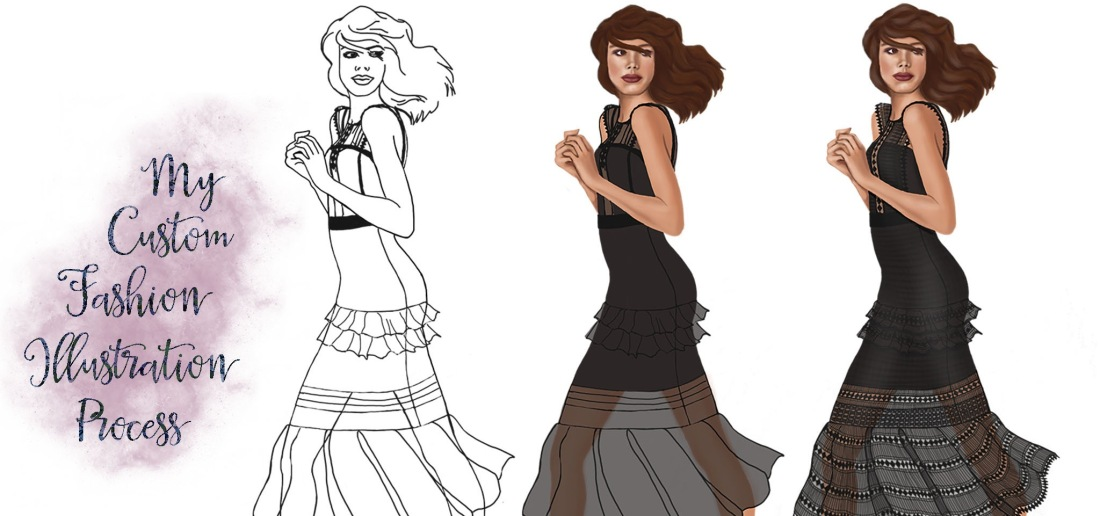 Sublime Cravings Custom Fashion Illustration Process