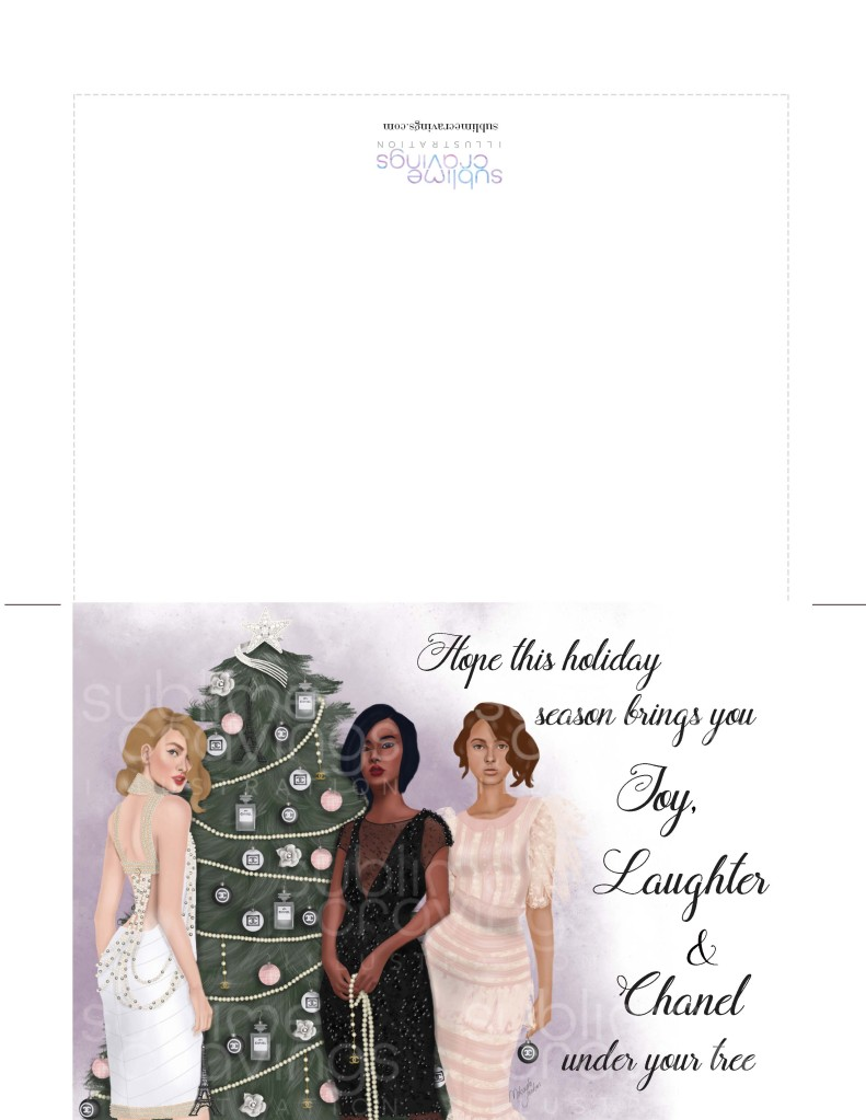 Sublime Cravings - Chanel Christmas Card A7 - watermarked