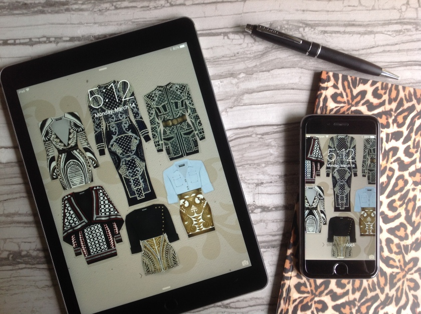 Balmain Dresses Flat Lay - Sublime Cravings Illustration