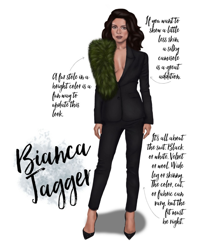 Sublime Cravings - Bianca Jagger Style Inspiration