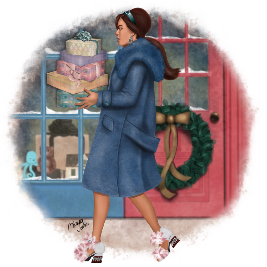 Sublime Cravings - Fashion Illustration Christmas Card