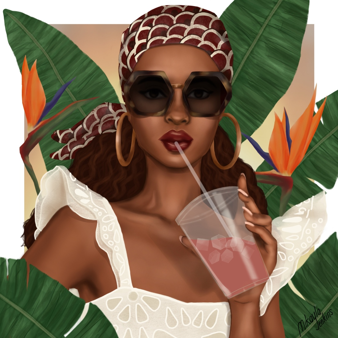 Luxe in Paradise - Sublime Cravings Illustration