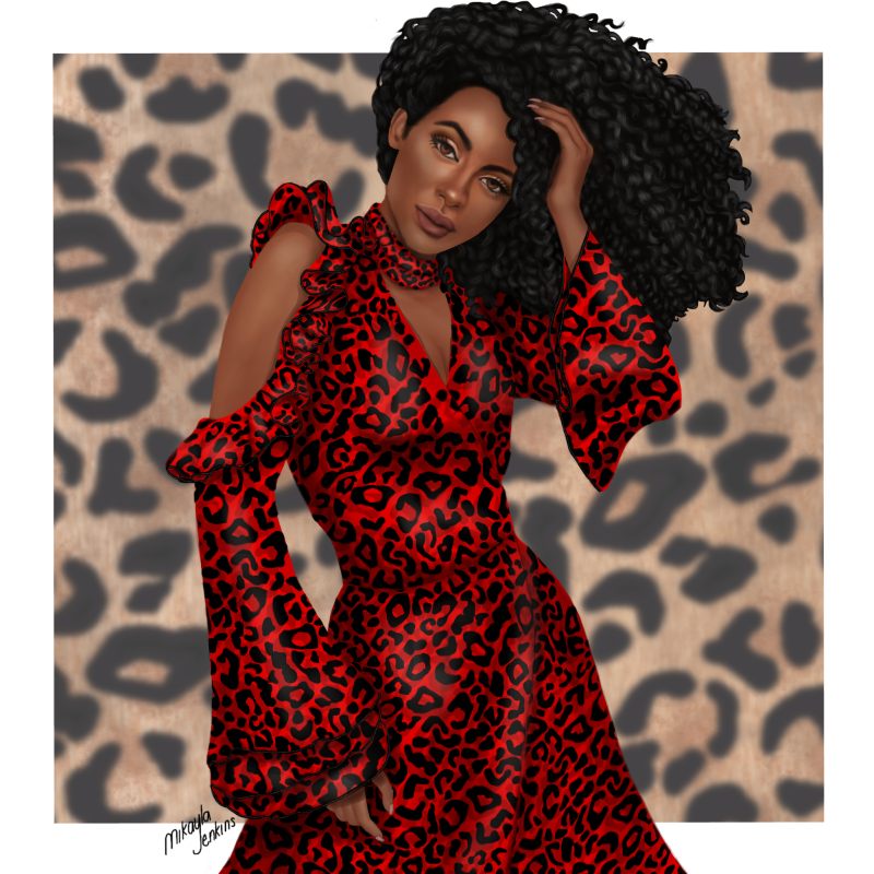 Red Leopard Dress - Stand Out Don't Blend In - Sublime Cravings
