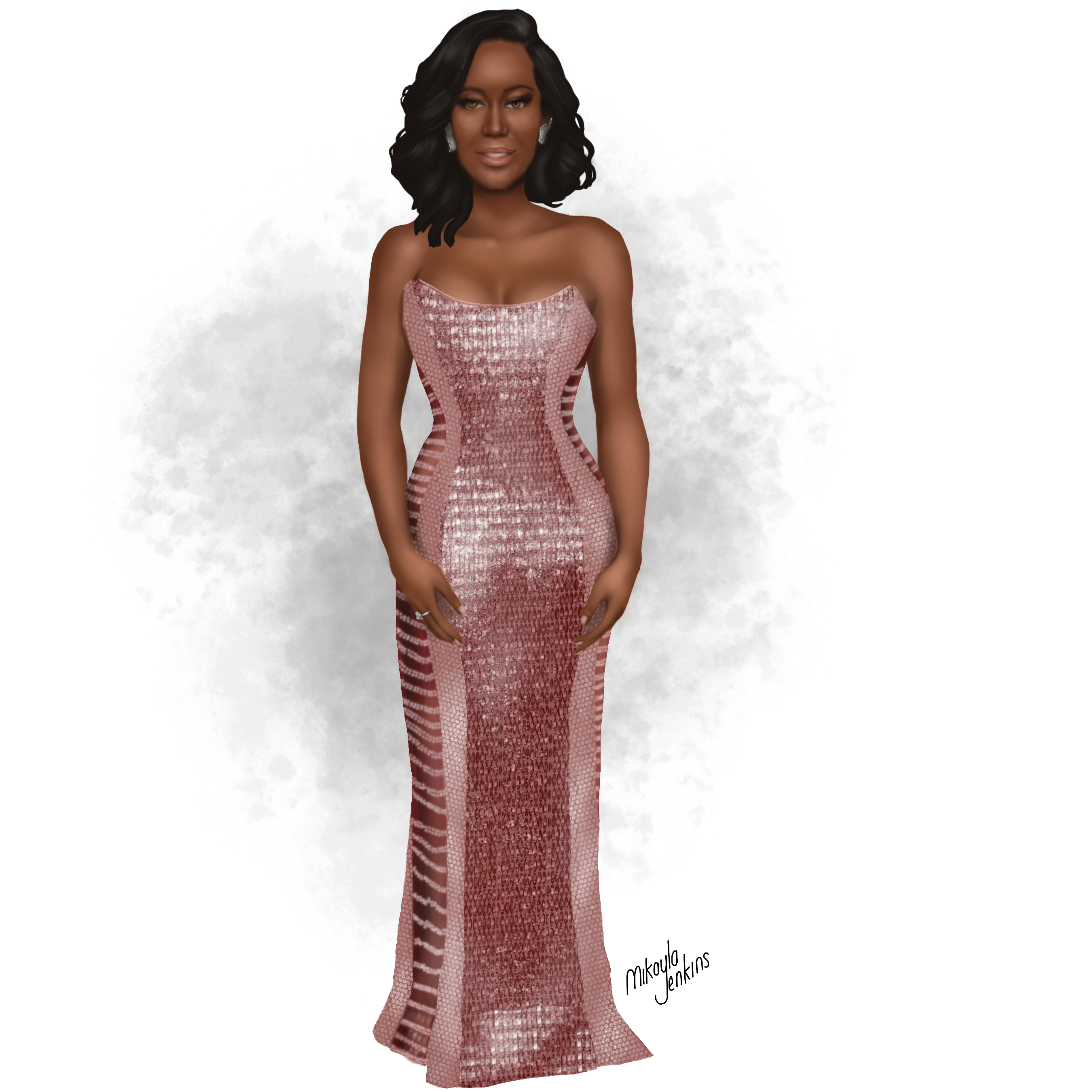 Regina King - Golden Globes 2019 - Sublime Cravings Illustration