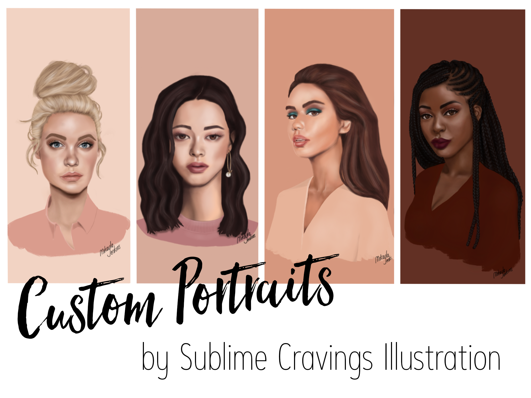 Custom portrait commission - Sublime Cravings Illustration