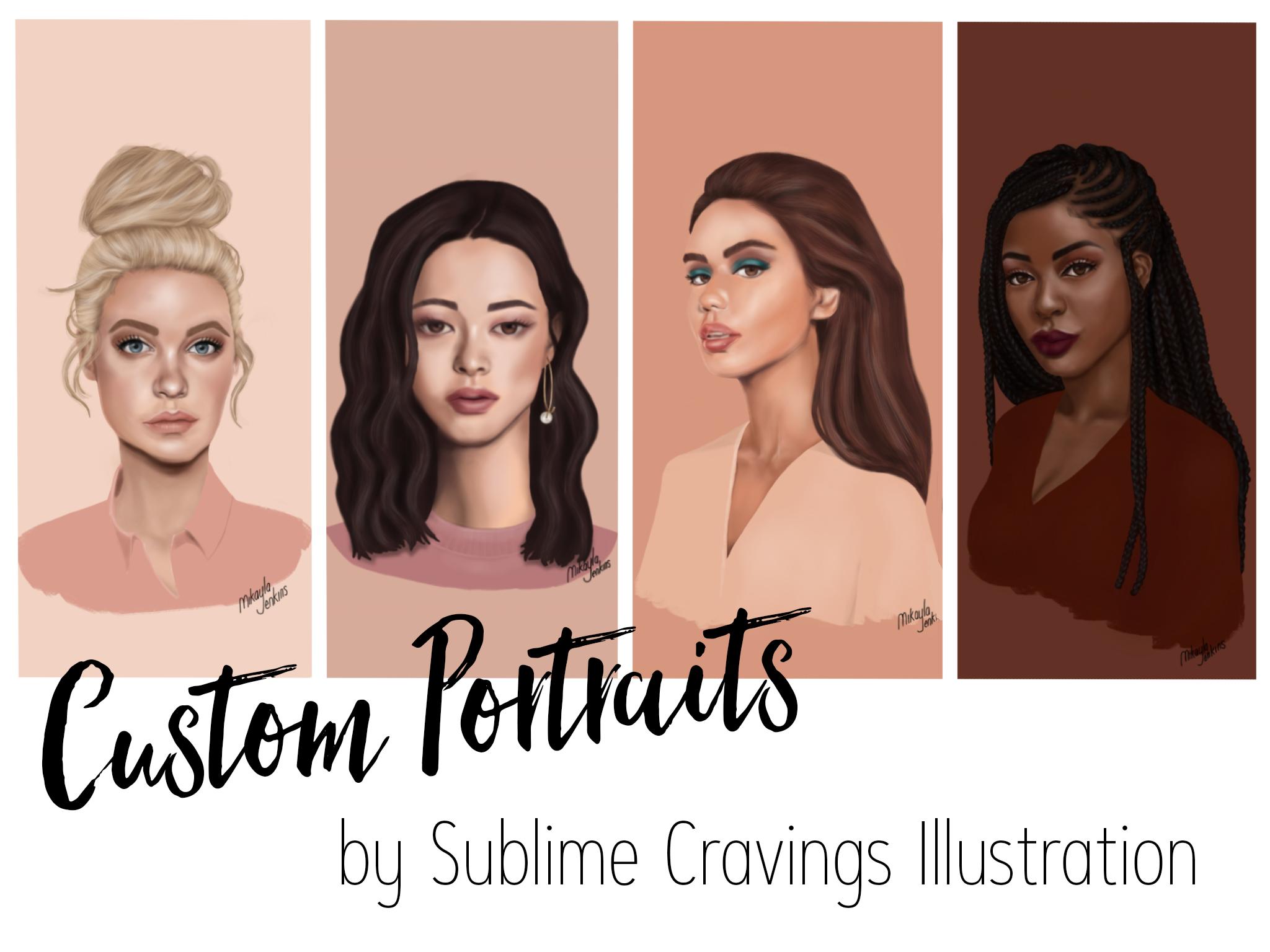 Custom portrait commission - Sublime Cravings Illustration