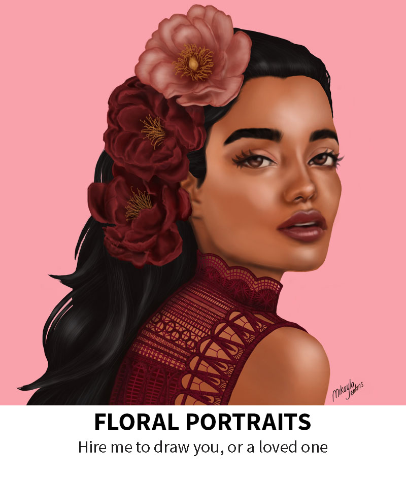 Floral Portraits by Sublime Cravings Illustration