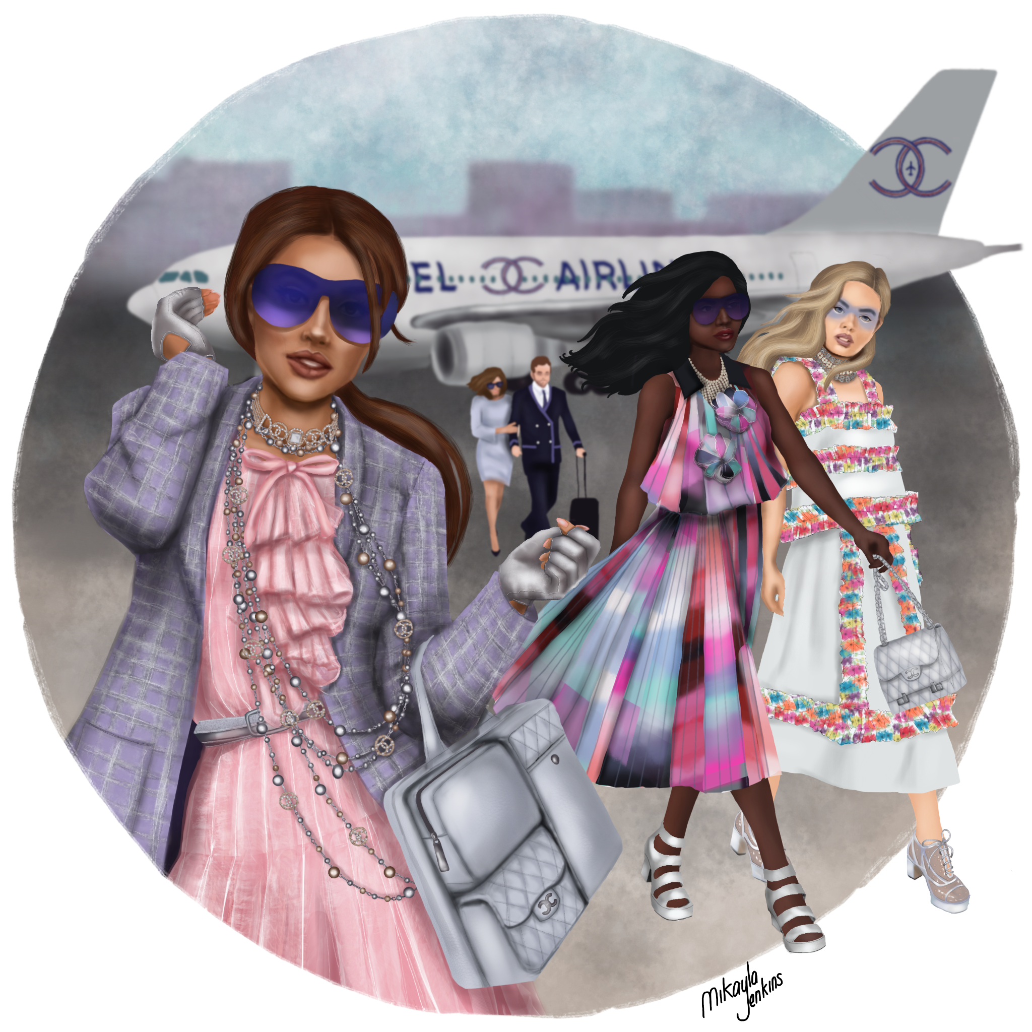 Sublime Cravings Illustration - Chanel Spring 2016 - Tribute to Lagerfeld